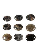 Maansteen (zwart) steen plat gepolijst