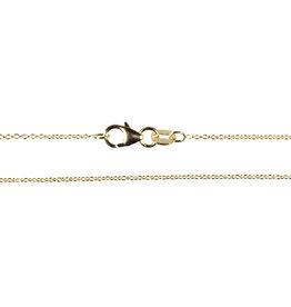 Gouden (14k) ketting anker 45 cm 1,1 mm dik