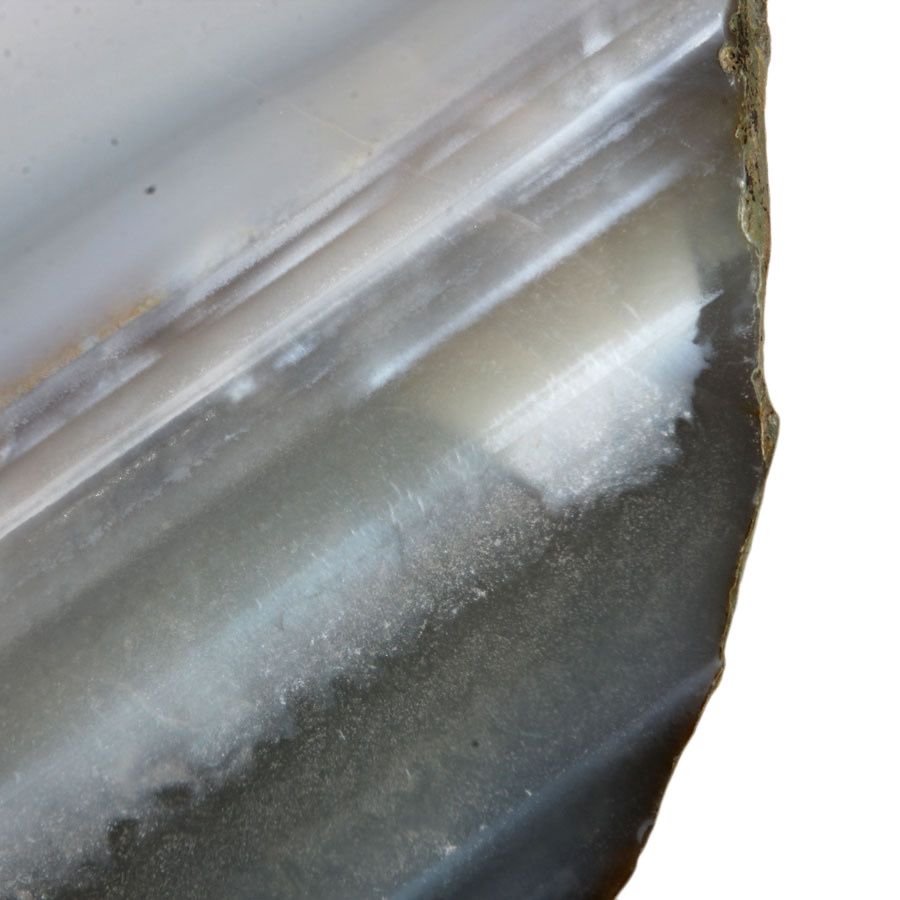 Agaat schijf gepolijst 21,5 x 18 x 2,2 cm / 1858 gram | op standaard