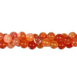 Carneool kralen (natuurlijk) rond 8 mm (streng van 40 cm)