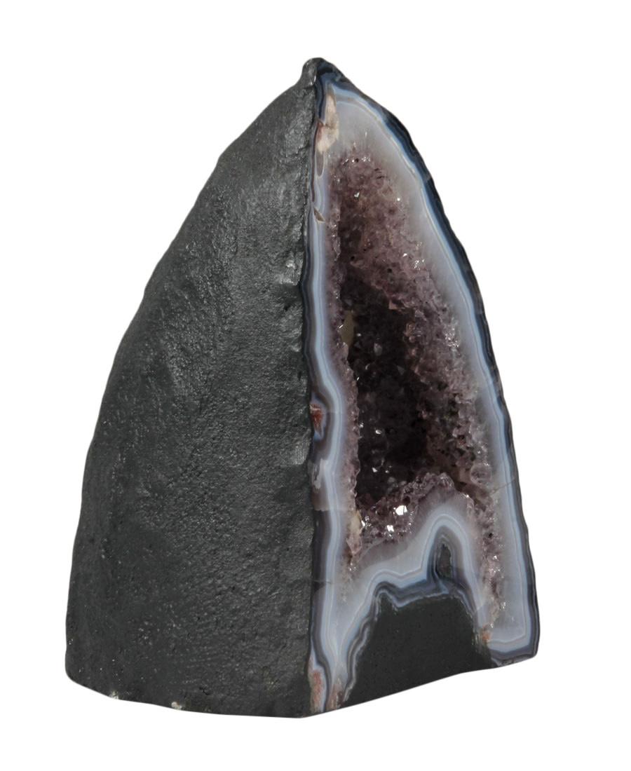 Amethist geode met calciet kristal 15,5 x 11,5 x 19,5 cm | 3924 gram