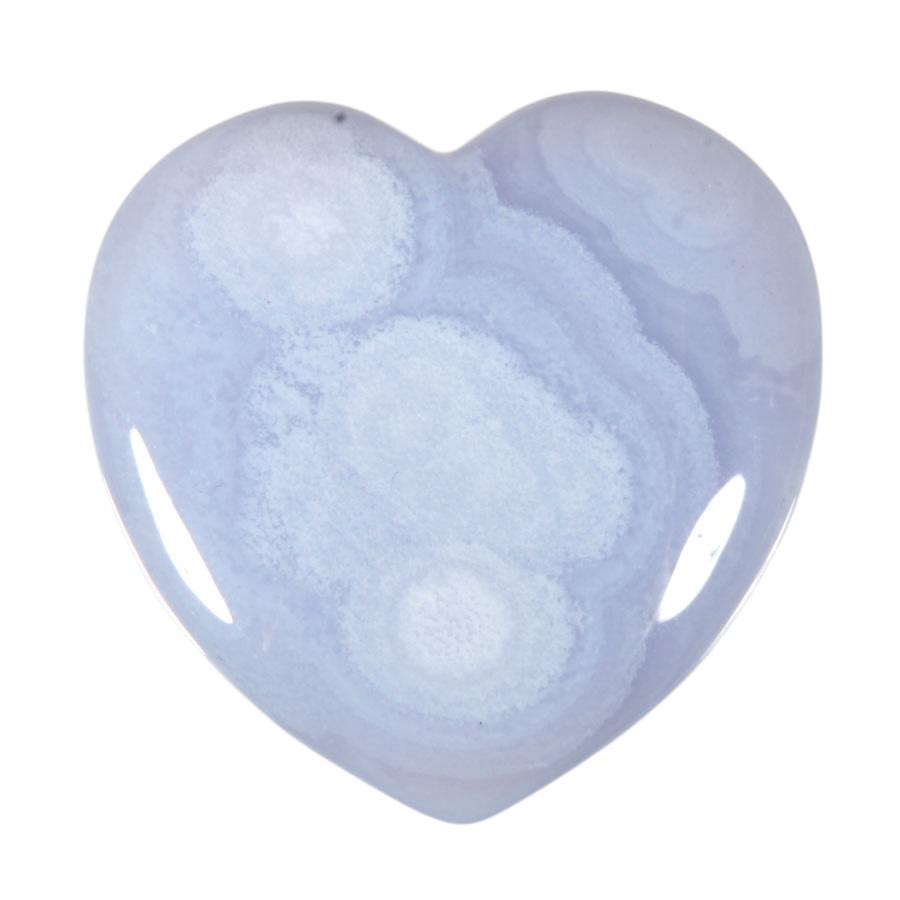 Chalcedoon edelsteen hart 4 cm