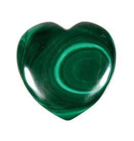 Malachiet edelsteen hart 4 cm