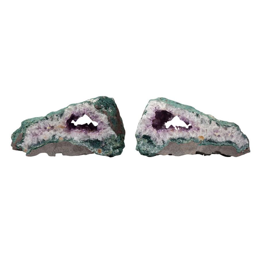 Amethist schijven half gepolijst (per set van 2)   8,72 kg