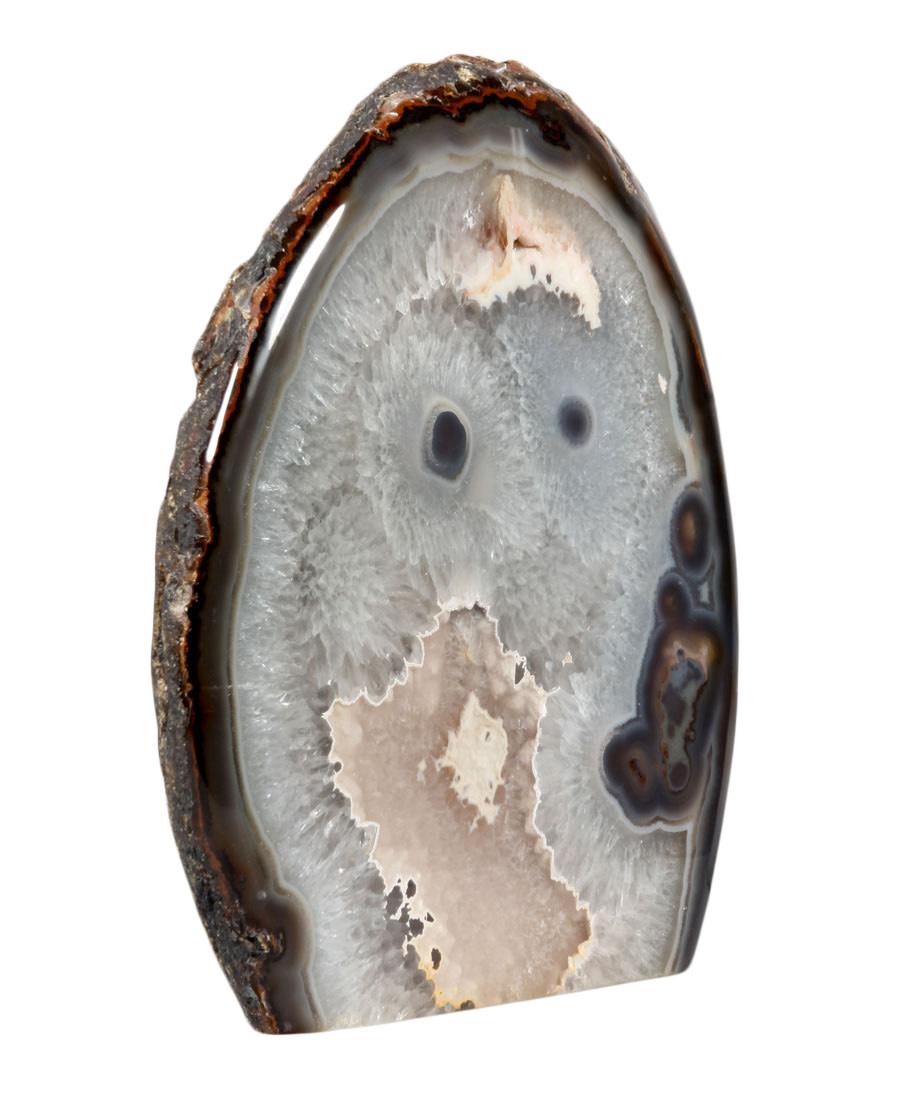 Agaat staand 1-zijdig gepolijst 25,5 x 6 x 27 cm | 7,33 kg