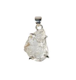 Zilveren hanger Herkimer diamant   2,1 x 1,5 cm