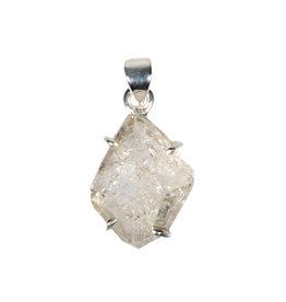 Zilveren hanger Herkimer diamant   2 x 1,6 cm