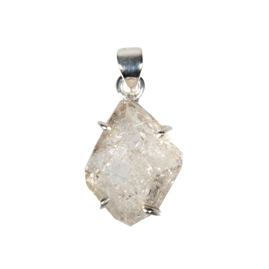 Zilveren hanger Herkimer diamant | 2 x 1,6 cm