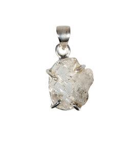 Zilveren hanger Herkimer diamant   1,5 x 1,5 cm