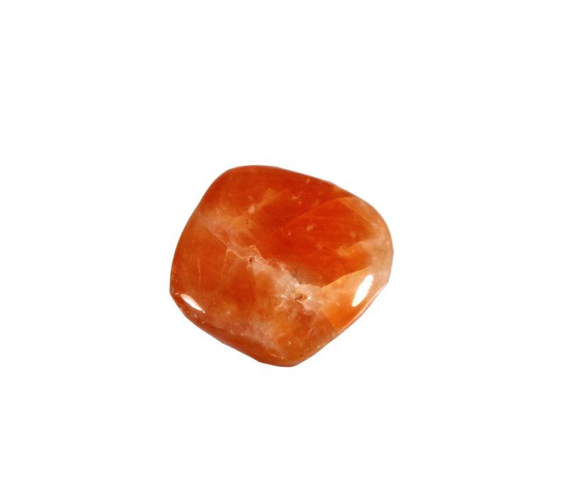 Calciet (oranje) steen donker getrommeld 10 - 20 gram