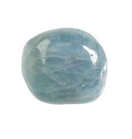 Aquamarijn (blauw) steen getrommeld 20 - 30 gram