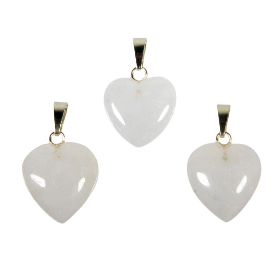 Azeztuliet hanger hart 15 mm met 14k gouden oogje