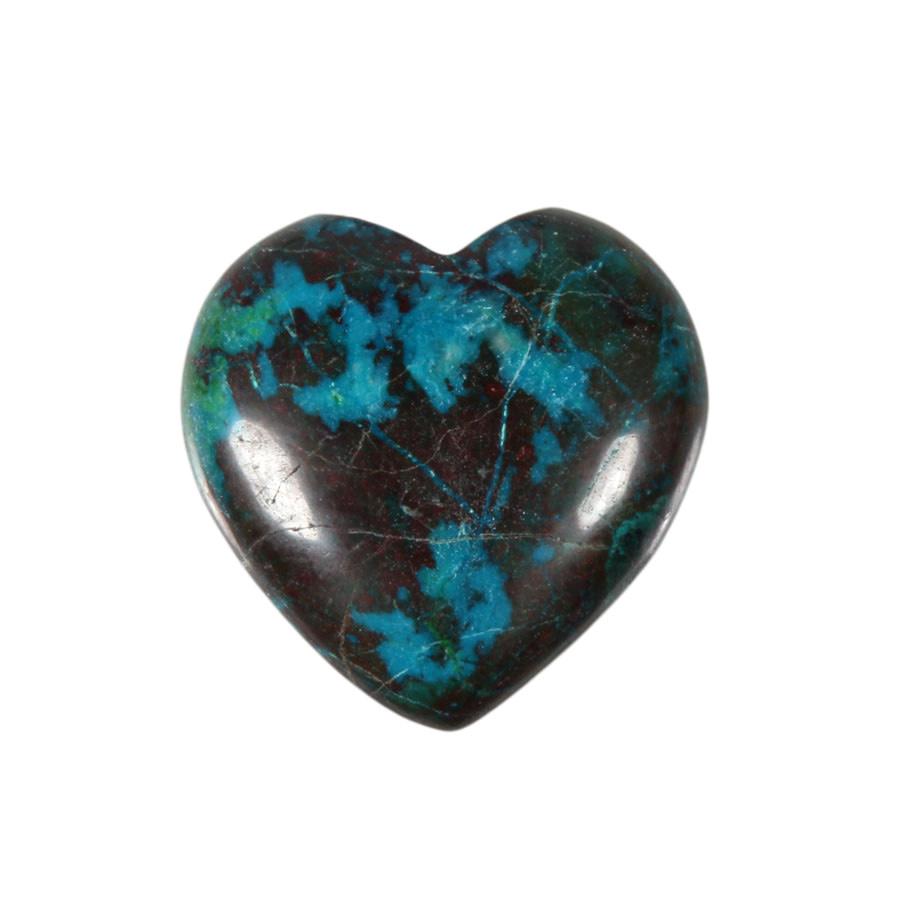 Chrysocolla edelsteen hart 3 cm