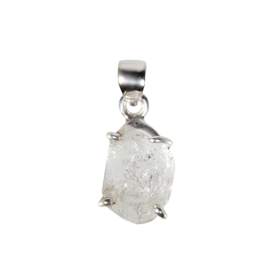 Zilveren hanger Herkimer diamant   1,4 x 1,1 cm