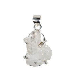 Zilveren hanger Herkimer diamant   1,9 x 1,6 cm