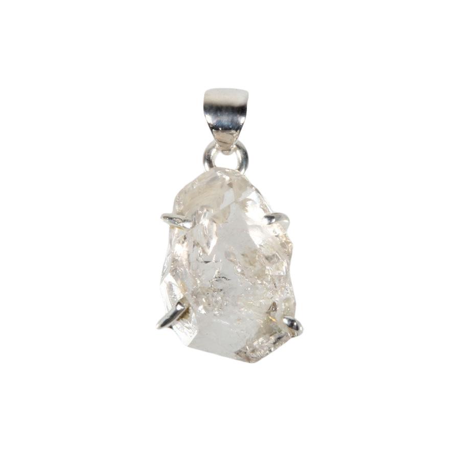 Zilveren hanger Herkimer diamant | 2 x 1,3 cm