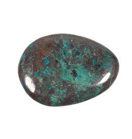 Chrysocolla steen plat gepolijst
