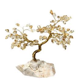 Citrien edelsteen boompje