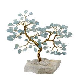 Aquamarijn edelsteen boompje