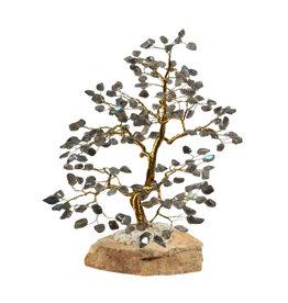 Labradoriet edelsteen boompje groot