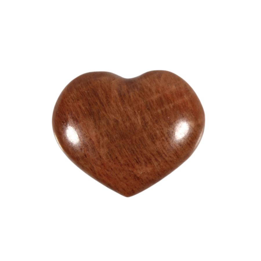 Maansteen (roze) edelsteen hart 3,2 - 3,7 cm
