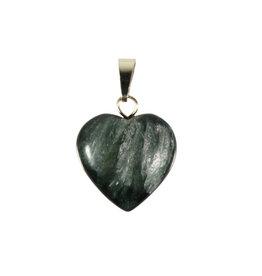 Serafiniet hanger hart 15 mm met 14k gouden oogje