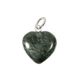 Serafiniet hanger hart 15 mm met zilveren oogje