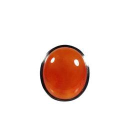 Zilveren ring carneool maat 18 | ovaal 1,9 x 1,5 cm