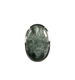Zilveren ring serafiniet maat 17 3/4   ovaal 2,6 x 1,8 cm