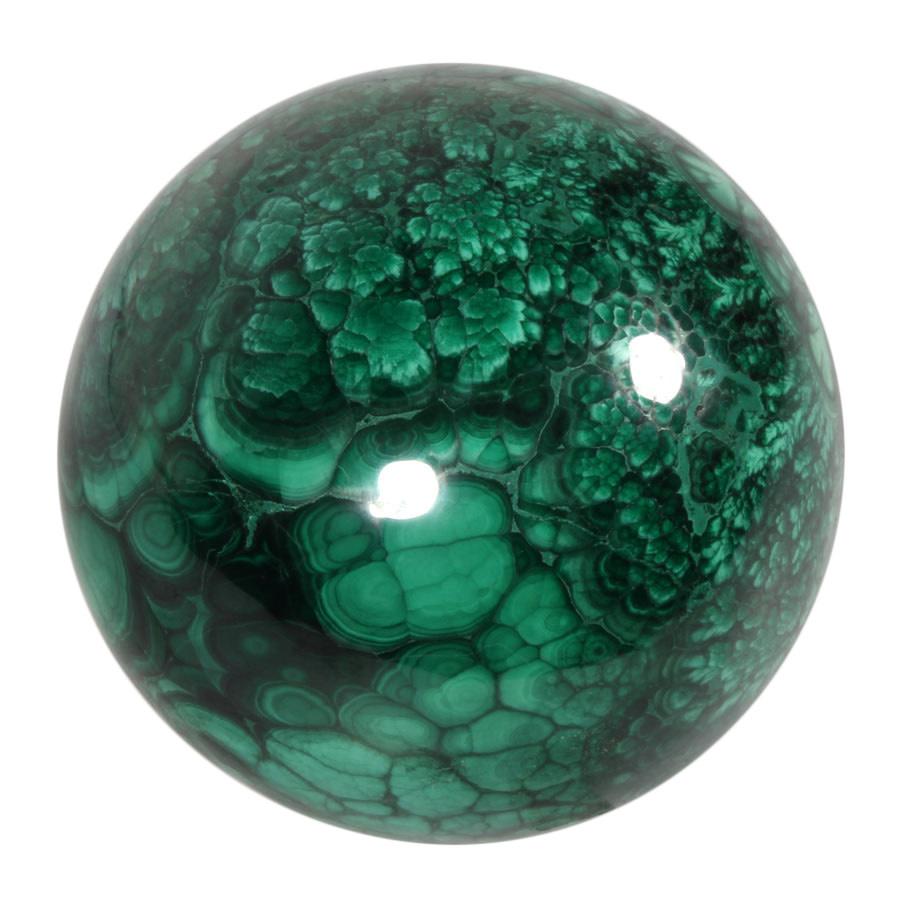 Malachiet edelsteen bol 82 mm | 1048 gram
