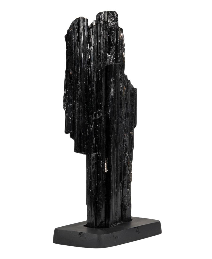 Toermalijn (zwart) ruw 13 x 7 x 32,5 cm / 4117 gram | op standaard