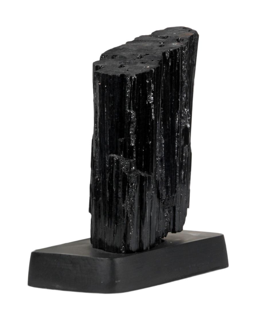 Toermalijn (zwart) ruw 12,5 x 6 x 17 cm / 2724 gram | op standaard