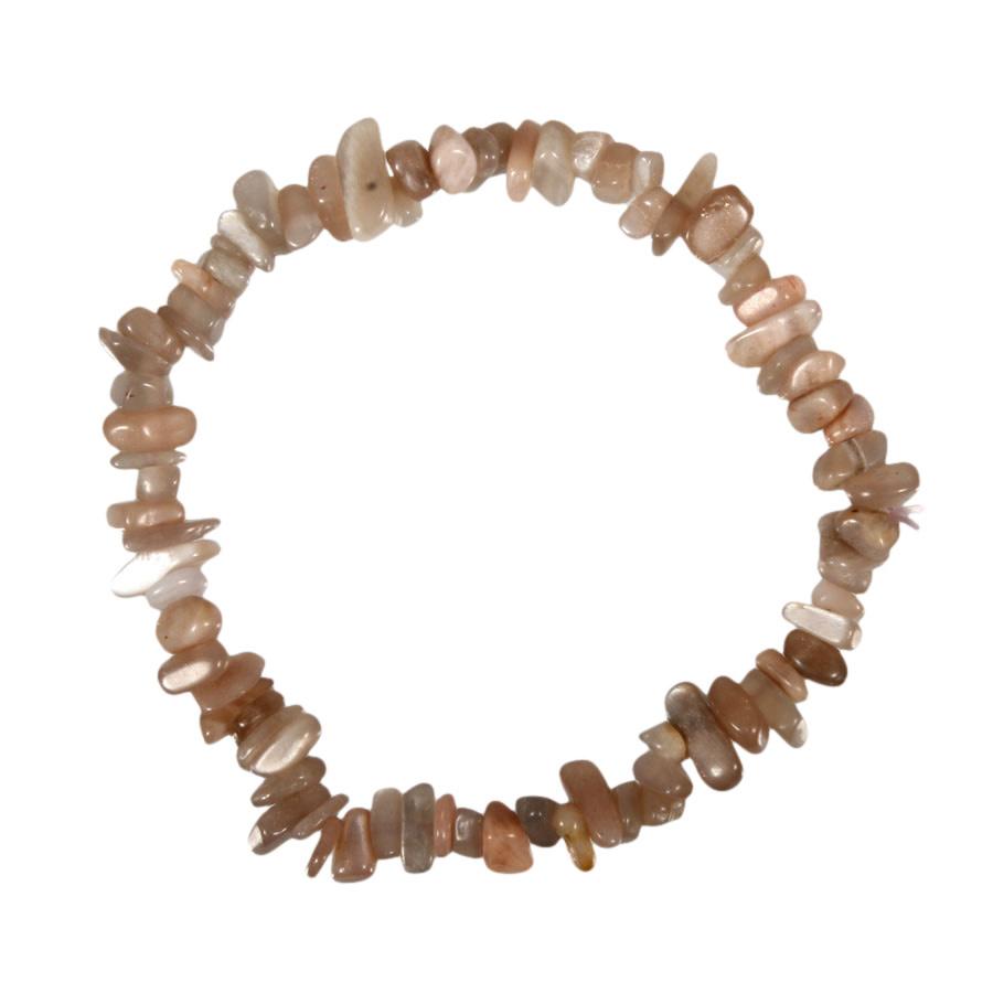 Maansteen (roze) armband split