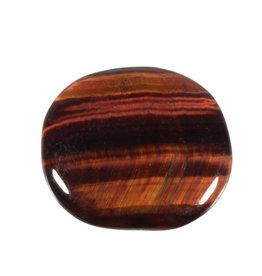 Tijgeroog (rood) steen plat gepolijst
