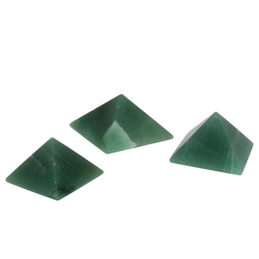 Aventurijn edelsteen piramide 3,7 - 4,5 cm