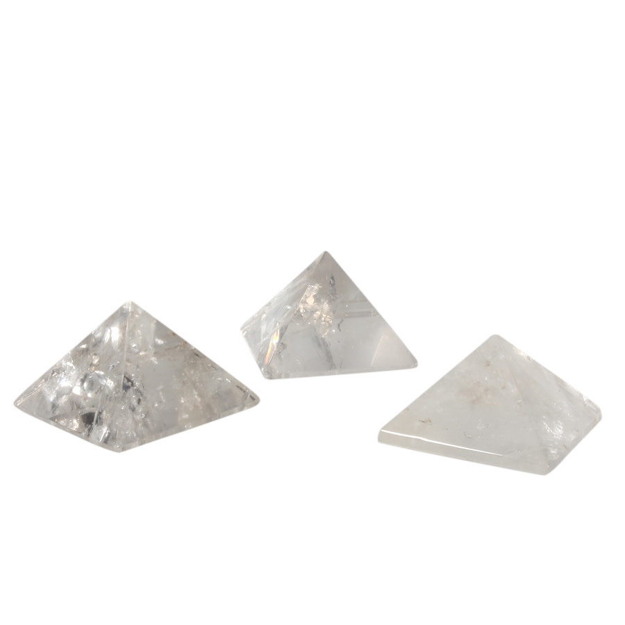 Bergkristal edelsteen piramide 3,8 - 4,2 cm