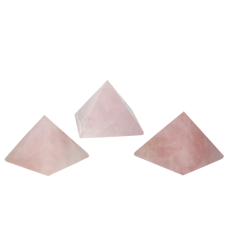 Rozenkwarts edelsteen piramide 4 - 4,5 cm