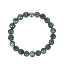 Smaragd armband 20 cm | 8 mm kralen