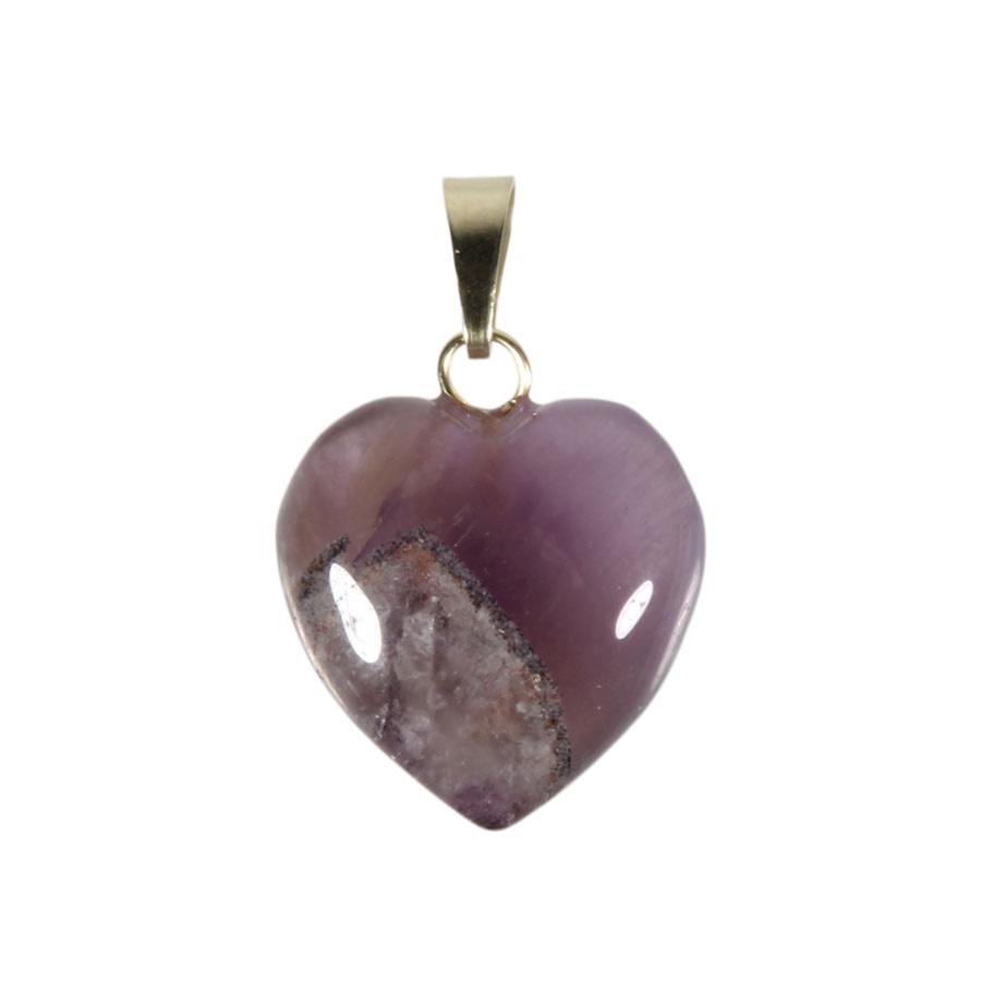 Auraliet 23 hanger hart 15 mm met 14k gouden oogje