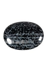 Obsidiaan (sneeuwvlok) massagesteen