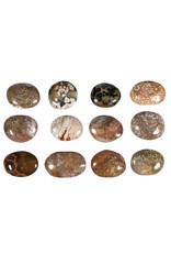 Jaspis (oceaan) steen plat gepolijst