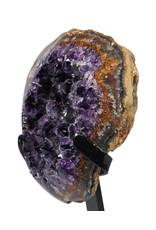 Amethist cluster 15 x 12 x 5,5 cm / 1151 gram   met standaard