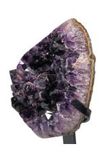 Amethist cluster 19,5 x 17 x 10 cm / 2703 gram | met standaard