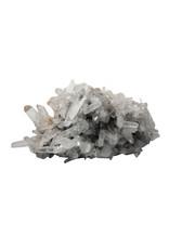 Bergkristal met golden healer cluster 25 x 17 x 11 cm | 3278 gram