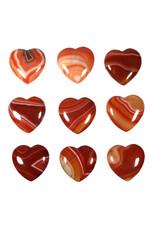 Carneool edelsteen hart 3 cm