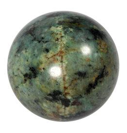Turkoois edelsteen bol 60 mm   305 gram