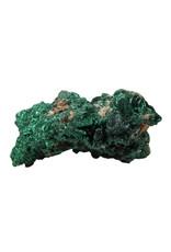 Malachiet (fluweel) ruw 16 x 9 x 6 cm   866 gram