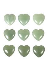 New jade (serpentijn) hanger hart doorboord