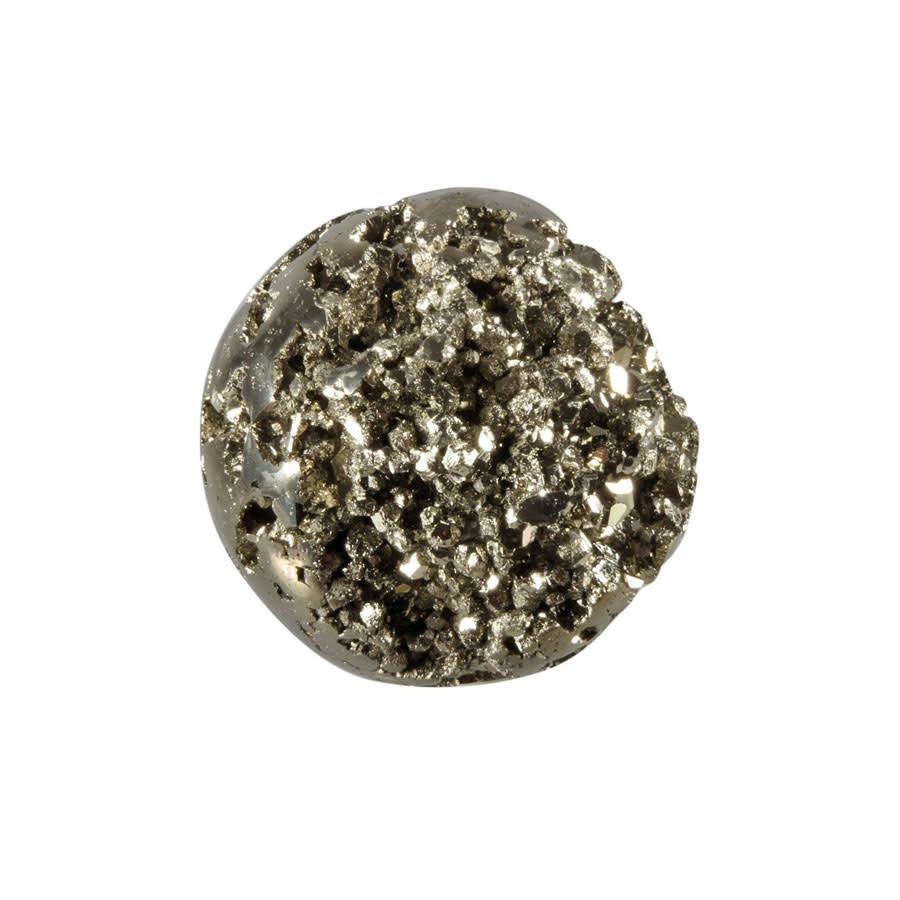Pyriet cluster edelsteen bol 40 - 45 mm