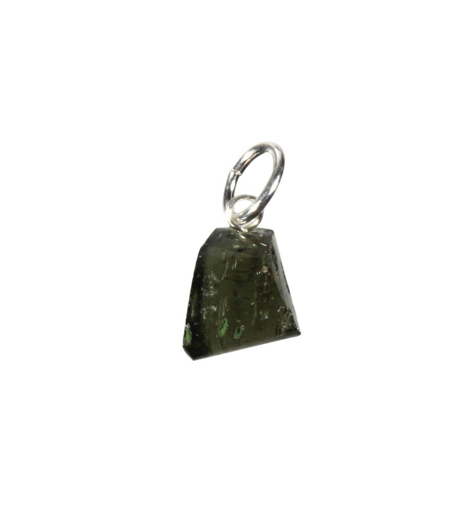 Moldaviet hanger gepolijst met zilveren oogje 0,4 - 1 gram